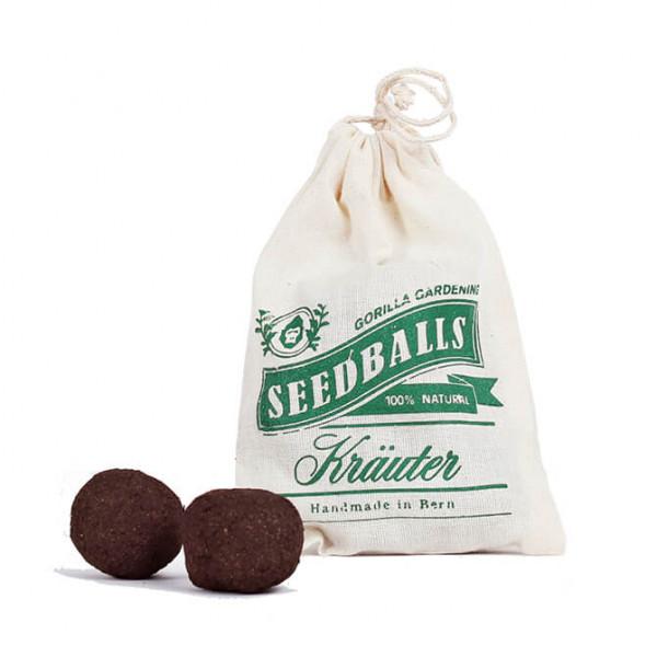 Kräuter Seedballs im Baumwollbeutel