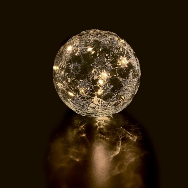 Glasi LED-Kugel Stern D12cm