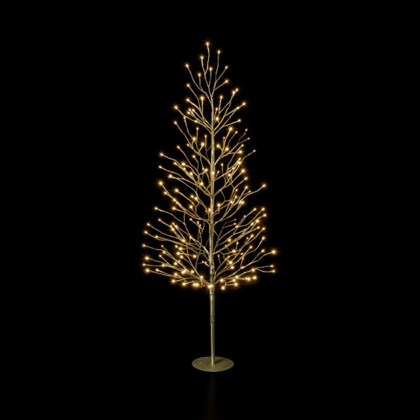 Leuchtender Deko-Baum gold M H120cm